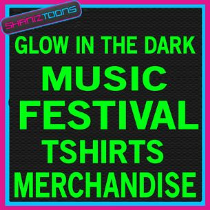 MUSIC FESTIVAL MERCHANDISE GLOW IN THE DARK TSHIRTS X 1000 MIXED SIZES - 150807943673